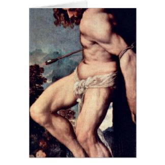 Cartão St. Sebastian por Titian