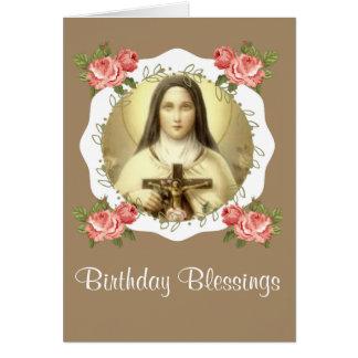 Cartão St. Therese da criança Jesus pouca flor