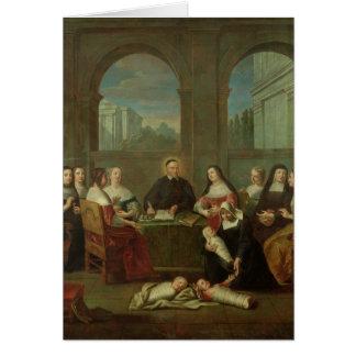 Cartão St. Vincent de Paul e irmãs da caridade