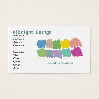 Cartão-sta do negócio das amostras de folha do cartão de visitas