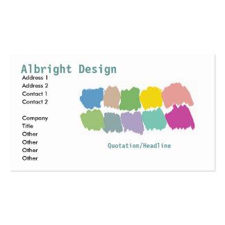 Cartão-sta do negócio das amostras de folha do pin cartão de visita