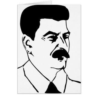 Cartão Stalin o excelente