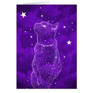 Cartão Stargazing do gato