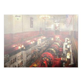 Cartão Steampunk - a sala de motor 1974