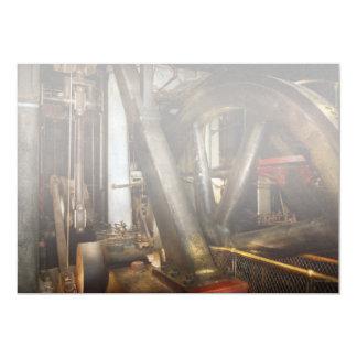 Cartão Steampunk - rodas do progresso
