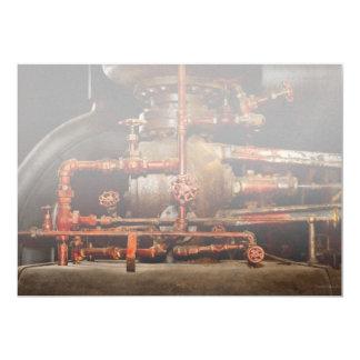 Cartão Steampunk - sonhos de tubulação
