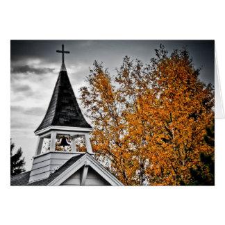 Cartão Steeple da igreja da queda