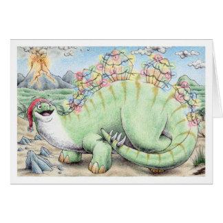 Cartão Stegosaurus do Natal