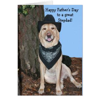 Cartão Stepdad feliz do dia dos pais