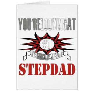 Cartão Stepdad radical impressionante
