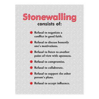 Cartão Stonewalling ou mini poster da arte