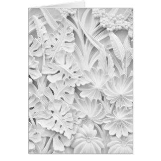 Cartão Stonework em um motivo da folha e da flor