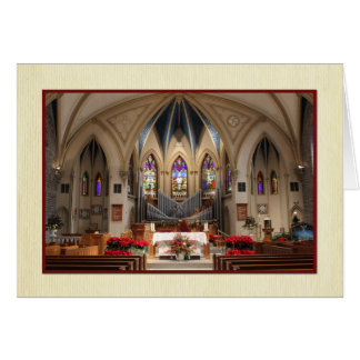 Cartão Sts. Natal bonito do santuário de Peter e de Paul