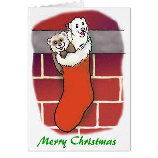 Cartão Stuffers da meia da doninha