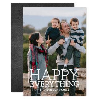 Cartão Sua foto com um feliz tudo cumprimento