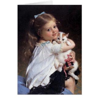 Cartão Sua menina do melhor amigo | com gatinho