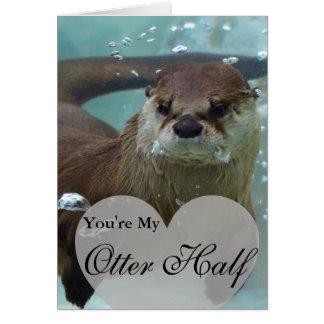 Cartão Sua minha natação da lontra de rio de Brown da