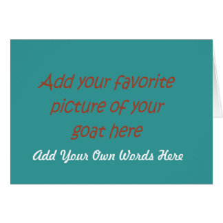 Cartão Sua própria cabra Cartão-personaliza-o