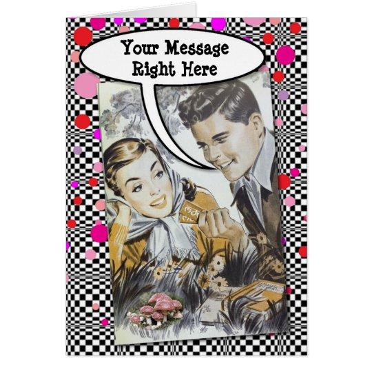 Cartão Suas palavras com casal dos jovens