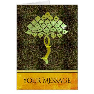 Cartão Suas palavras na árvore Mystical do ouro