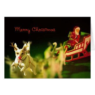 Cartão Sub de Jack Russell para Rudolph