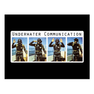Cartão subaquático de uma comunicação cartoes postais