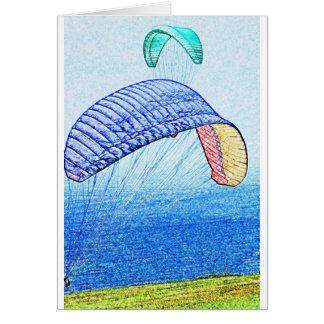 Cartão Subir do parapente
