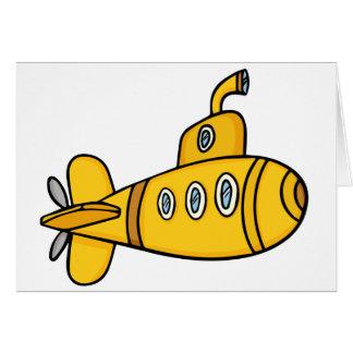 Cartão Submarino amarelo dos desenhos animados