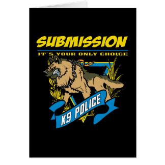 Cartão Submissão da polícia K9