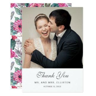 Cartão Succulent boémio & obrigado floral de | você