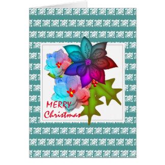 Cartão Succulent bonito do Natal floral