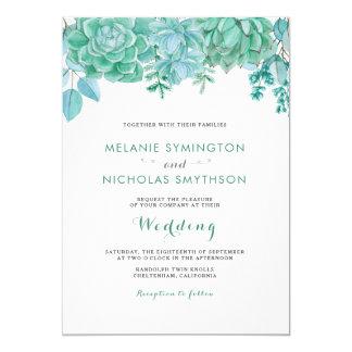 Cartão Succulent moderno + Hortaliças que wedding 3961