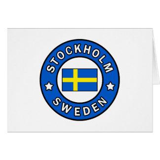 Cartão Suecia de Éstocolmo