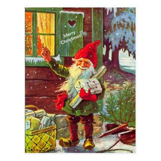Cartão sueco de Tomte do gnomo do duende do