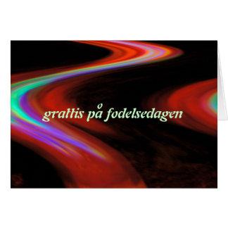 Cartão sueco do feliz aniversario