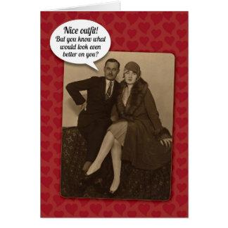 Cartão Cartão sugestivo do dia dos namorados do vintage