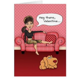Cartão Cartão sugestivo engraçado do dia dos namorados