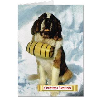 Cartão Suiça do vintage, cão de St Bernard,