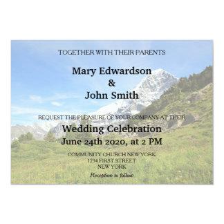 Cartão Suiça Eiger do casamento do país da montanha