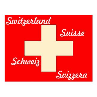 Cartão suíço da bandeira