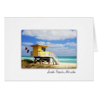 Cartão sul de Florida da praia