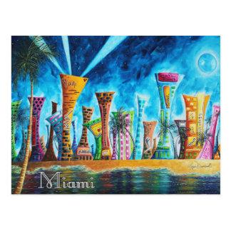 Cartão sul do viagem do pop art de Florida da