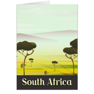 Cartão Sul - poster de viagens africano da noite da
