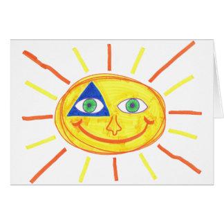 Cartão Sun bonito
