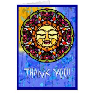Cartão Sun-Coletor do vitral (obrigado você)