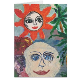 Cartão Sun e lua