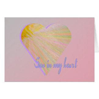 Cartão Sun em meu coração