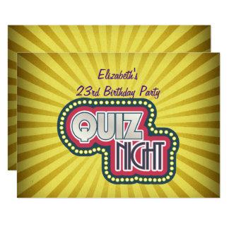 Cartão Sunburst do amarelo do partido de BirthdayTrivia