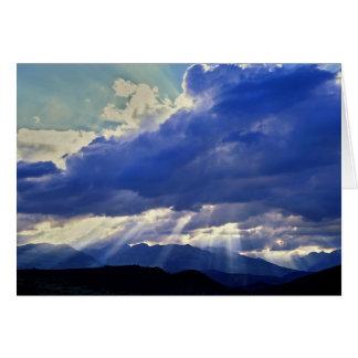 Cartão Sunburst - Nevada ocidental
