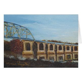 Cartão Sunlit da ponte